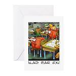 Salad Bar Exam Greeting Cards (Pk of 10)