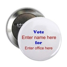 "Simple Blue and Red Campaign 2.25"" Button (10 pack"