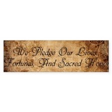 Sacred Honor Bumper Bumper Sticker