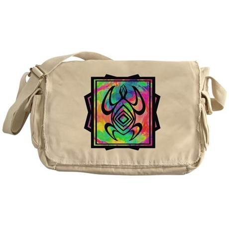 Tiedye Turtle Messenger Bag