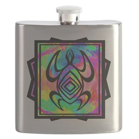 Tiedye Turtle Flask