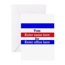 Striped Campaign Greeting Cards (Pk of 10)
