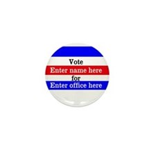 Striped Campaign Mini Button (10 pack)