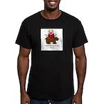 Bear pants Men's Fitted T-Shirt (dark)