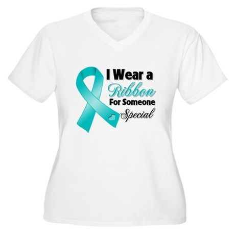 Special Ovarian Cancer Women's Plus Size V-Neck T-