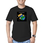 It eat everything Men's Fitted T-Shirt (dark)