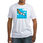 Everyone goes up to the sky Fitted T-Shirt