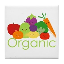 """Organic Family 2"" Tile Coaster"