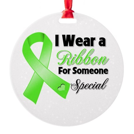 Ribbon Special Lymphoma Round Ornament