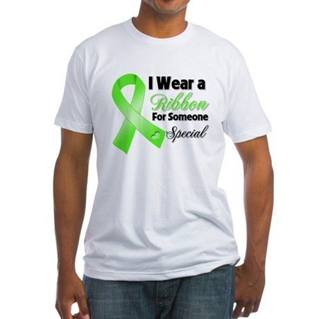 Ribbon Special Lymphoma Fitted T-Shirt