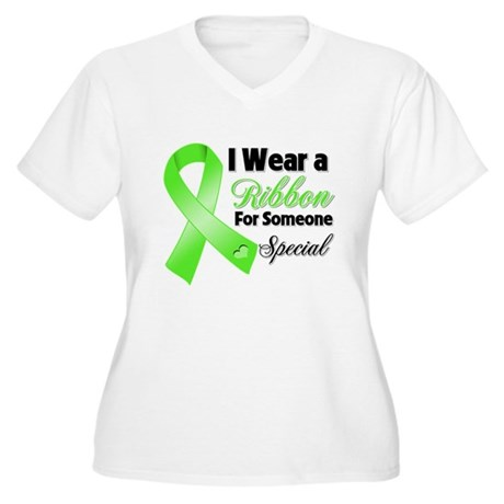 Ribbon Special Lymphoma Women's Plus Size V-Neck T