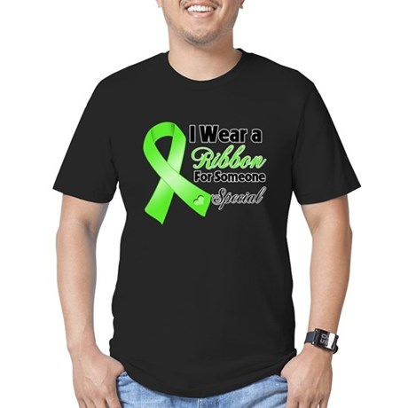 Ribbon Special Lymphoma Men's Fitted T-Shirt (dark