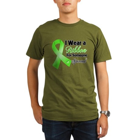 Ribbon Special Lymphoma Organic Men's T-Shirt (dar