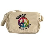 Peace Always in Style Messenger Bag