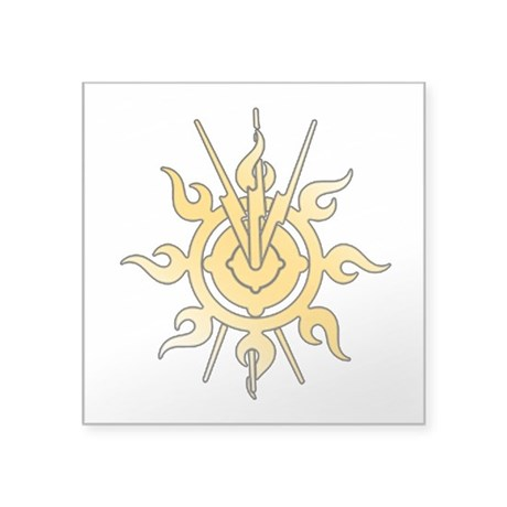 "Acheron Symbol (TM) Square Sticker 3"" x 3&quo"