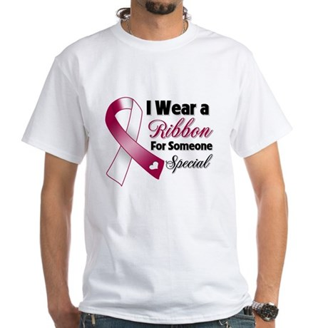 Special Head Neck Cancer White T-Shirt