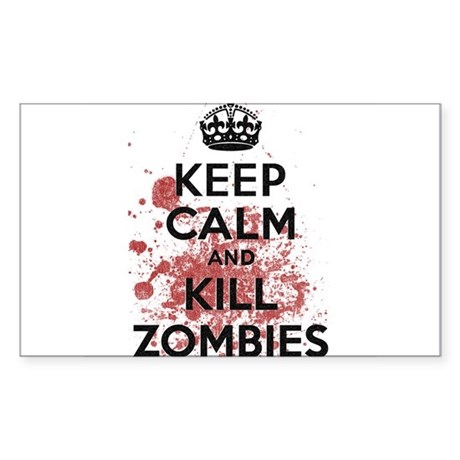Keep Calm and Kill Zombies Rectangle Sticker