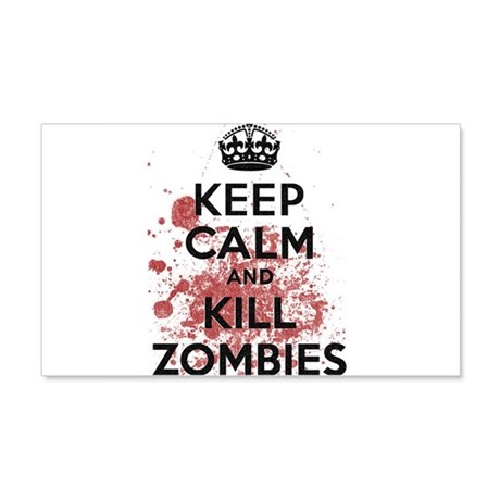 Keep Calm and Kill Zombies 20x12 Wall Decal