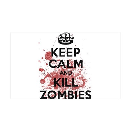 Keep Calm and Kill Zombies 35x21 Wall Decal