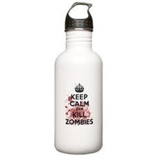 Keep Calm and Kill Zombies Water Bottle