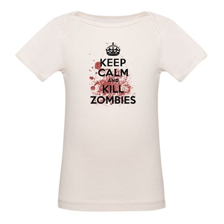 Keep Calm and Kill Zombies Organic Baby T-Shirt