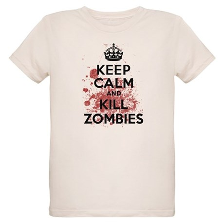 Keep Calm and Kill Zombies Organic Kids T-Shirt