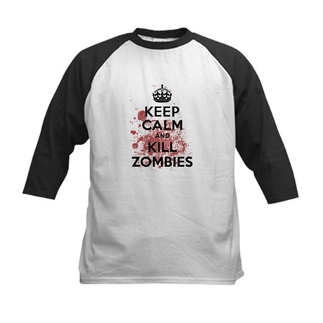 Keep Calm and Kill Zombies Kids Baseball Jersey