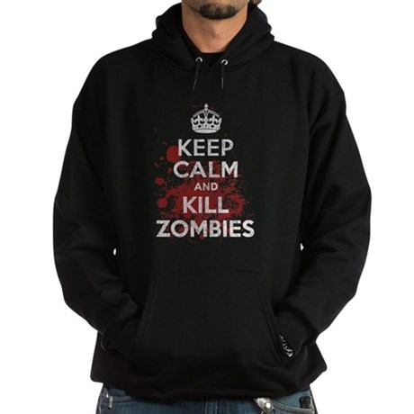 Keep Calm and Kill Zombies Dark Hoodie