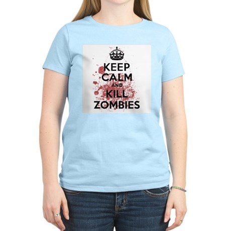 Keep Calm and Kill Zombies Womens Light T-Shirt