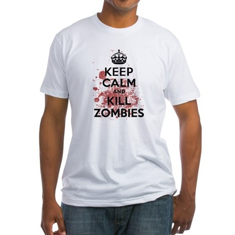 Keep Calm and Kill Zombies Fitted T-Shirt