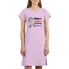 Special Brain Cancer Women's Nightshirt