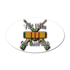 Vietnam Veteran in Vietnamese 35x21 Oval Wall Deca