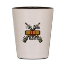 Vietnam Veteran in Vietnamese Shot Glass