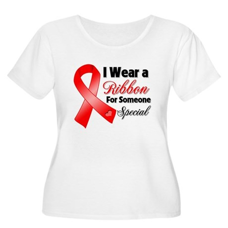 Special Blood Cancer Women's Plus Size Scoop Neck