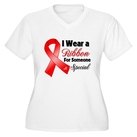 Special Blood Cancer Women's Plus Size V-Neck T-Sh