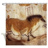 Lascaux Horse Painting Shower Curtain