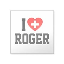 "I Love Roger Square Sticker 3"" x 3"""