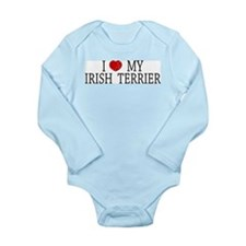 Love Irish Terrier Long Sleeve Infant Bodysuit