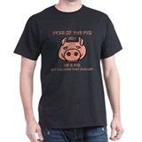 Pig Black T-Shirt
