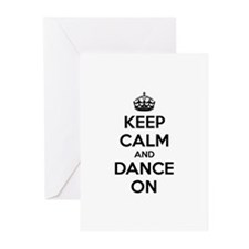 Keep calm and dance on Greeting Cards (Pk of 20)
