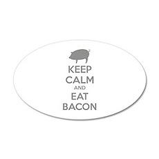 Keep calm and eat bacon 38.5 x 24.5 Oval Wall Peel