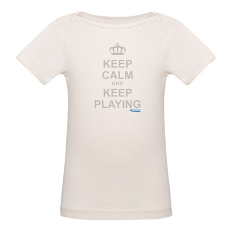 Keep Calm and Keep Playing Organic Baby T-Shirt
