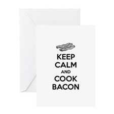 Keep calm and cook bacon Greeting Card