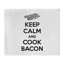 Keep calm and cook bacon Throw Blanket