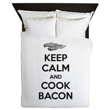 Keep calm and cook bacon Queen Duvet