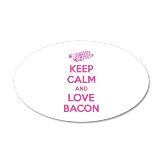 Keep calm and love bacon 22x14 Oval Wall Peel