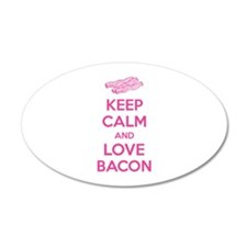 Keep calm and love bacon 38.5 x 24.5 Oval Wall Pee