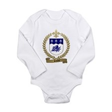 Unique Canadian family crests Long Sleeve Infant Bodysuit