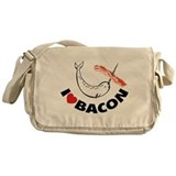 I love bacon narwhal Messenger Bag