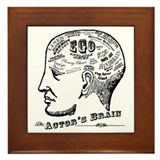 The Actor's Brain Framed Tile